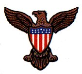 American Eagle national emblem of the United States of America
