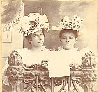 Jennie and Ola Bell in their Easter Bonnets