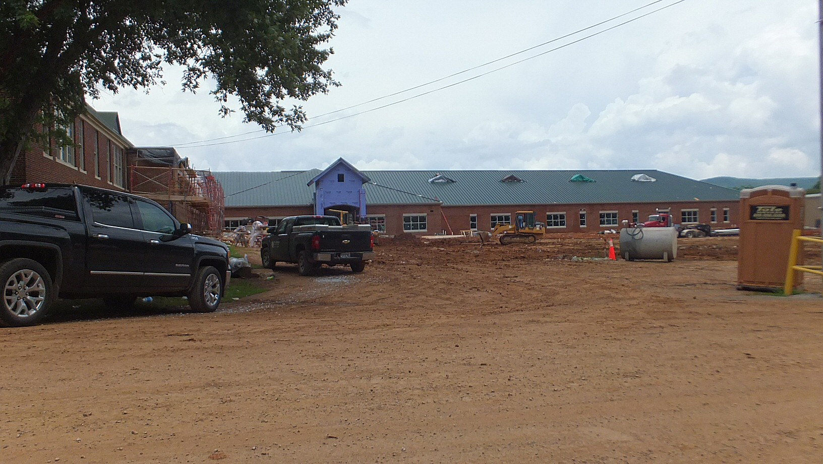 Construction of the New Gurley Madison County Elementary and Middle School