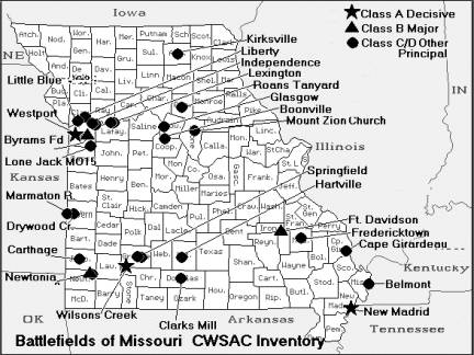Battlefields of Missouri CWSAC Inventory