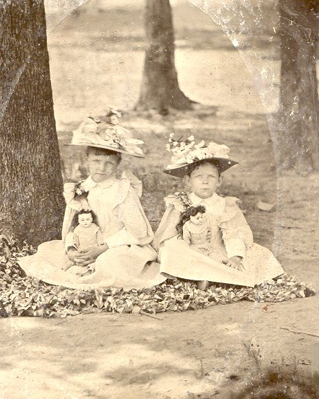 Ruby and Clara Walker about 1897