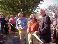 Ribbon Cutting at the park Jerry Craig, Carolyn Stone, and Larry Hollingsworth
